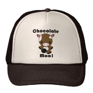 Vaca del MOO Kawaii del chocolate Gorros Bordados