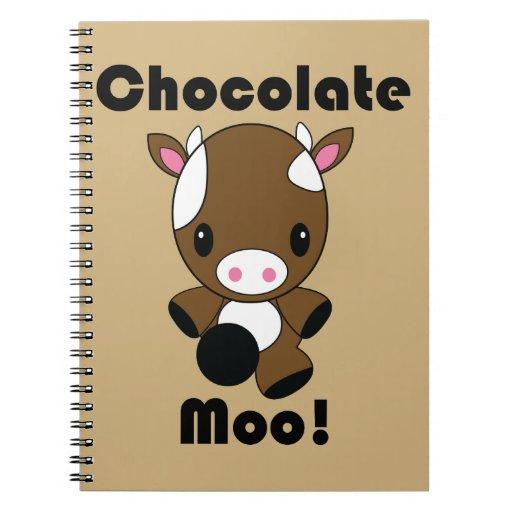 Vaca del MOO Kawaii del chocolate Libro De Apuntes