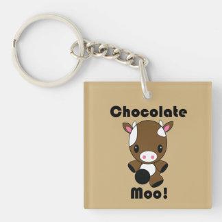 Vaca del MOO Kawaii del chocolate Llavero
