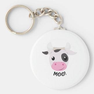 Vaca del MOO Llaveros Personalizados