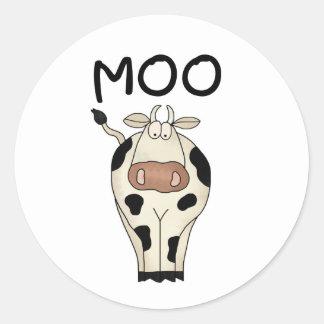 Vaca del MOO Etiquetas Redondas
