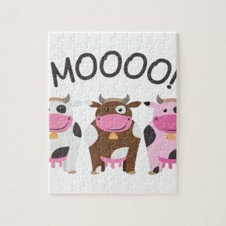 Vaca del MOO Puzzles Con Fotos