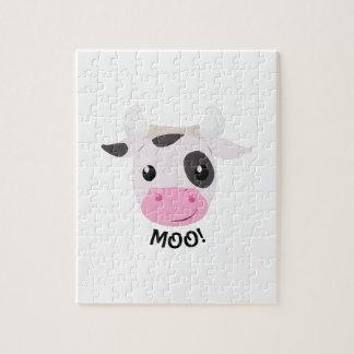 Vaca del MOO Rompecabezas Con Fotos