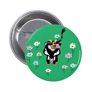 Vaca del MOO - recuerdo cuando visitamos la granja Pin Redondo De 2 Pulgadas