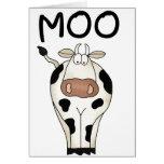 Vaca del MOO Tarjetas