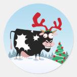Vaca del navidad de Mooey Etiquetas