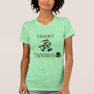 Vaca del navidad de Mooey T-shirts