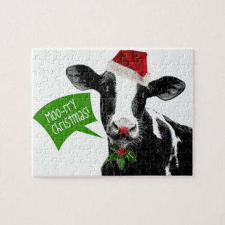 ¡Vaca del navidad - Navidad Moory! Puzzle