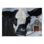 Vaca del navidad tarjetón