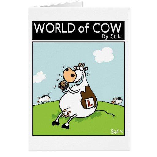 Vaca del principiante tarjetón