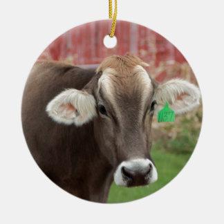 Vaca del suizo de Brown Ornamentos De Reyes