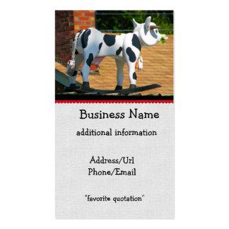 Vaca del tejado plantilla de tarjeta personal