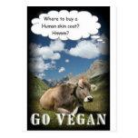 vaca del vegano postal