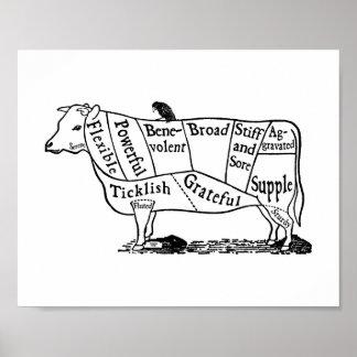 Vaca del vegano póster