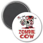 Vaca del zombi imanes de nevera