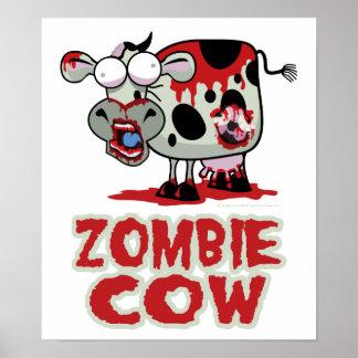 Vaca del zombi póster