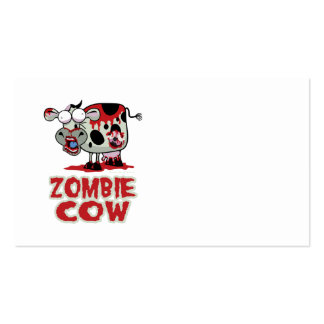 Vaca del zombi tarjeta de negocio