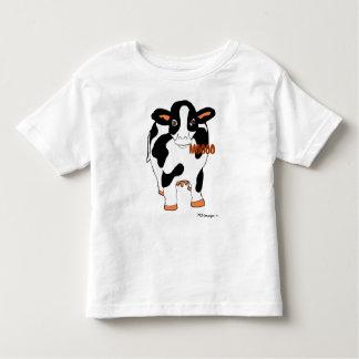 Vaca delantera y trasera blanco y negro Shi de la Playeras