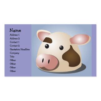Vaca deliciosa plantilla de tarjeta de visita