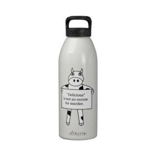 Vaca:  Delicioso no es… Botellas De Agua Reutilizables