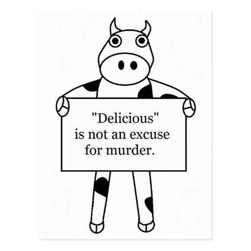 Vaca:  Delicioso no es… Tarjetas Postales