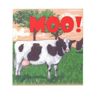 Vaca desafiante bloc de notas