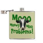 Vaca divertida de los problemas del MOO del dinero