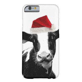 Vaca divertida de Santa del navidad Funda De iPhone 6 Slim