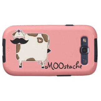 vaca divertida del bigote de MOOstache Samsung Galaxy S3 Cárcasas