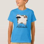 vaca divertida del bigote de MOOstache Poleras