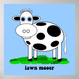vaca divertida póster