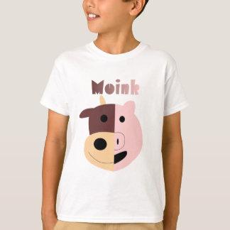 Vaca + El cerdo = Moink embroma la camiseta Remeras