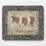 Vaca elegante del país de Kate McRostie Mousepad