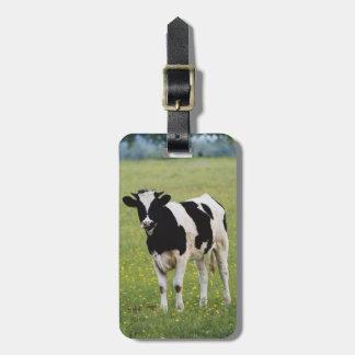 Vaca en el campo de Wildflowers Etiquetas Para Maletas