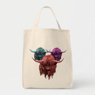 Vaca escocesa de la montaña bolsa tela para la compra