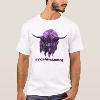 Vaca escocesa de la montaña. ¡Psychadelicoo! Playera