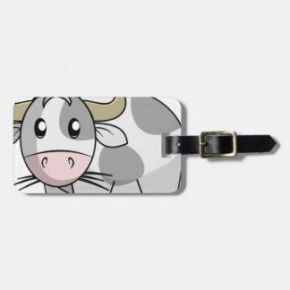 Vaca Etiquetas Maleta