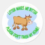 vaca etiquetas redondas
