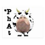 vaca fantástica postal