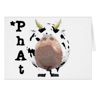 vaca fantástica tarjeta de felicitación