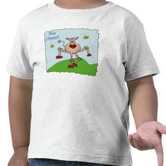 Vaca feliz de la abeja camiseta