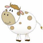 Vaca feliz escultura fotografica