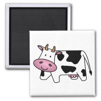 Vaca feliz iman de nevera