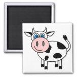 ¡Vaca feliz - personalizable! Iman De Frigorífico