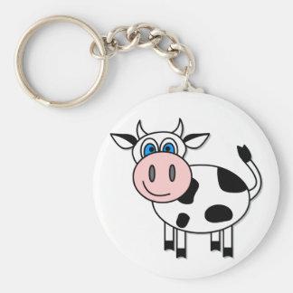 ¡Vaca feliz - personalizable Llavero