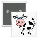 ¡Vaca feliz - personalizable! Pin