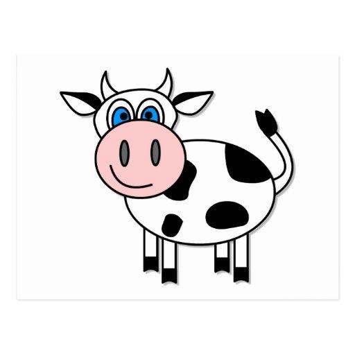 ¡Vaca feliz - personalizable! Postales