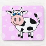 ¡Vaca feliz - personalizable! Tapetes De Ratón