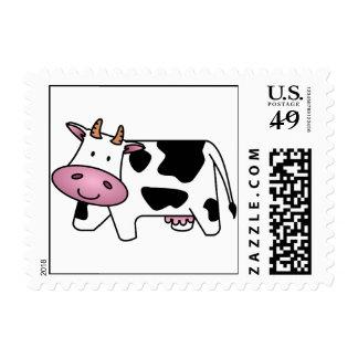 Vaca feliz sello postal