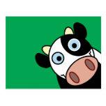 Vaca feliz tarjetas postales